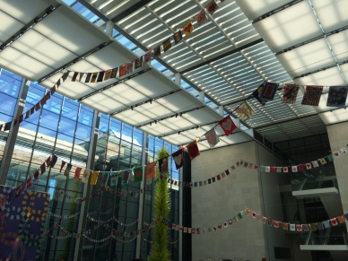 Flags displayed in the Boston Museum of Fine Arts