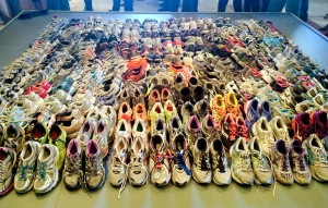"Pile of Shoes at the ""Dear Boston"" exhibit"