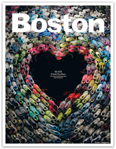 Boston Magazine cover of May 2013, the month following the 2013 bombing