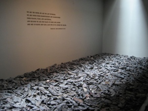 Pile of Shoes at the Holocaust Memorial in Washington, D.C. (Photo courtesy of the Holocaust Memorial)